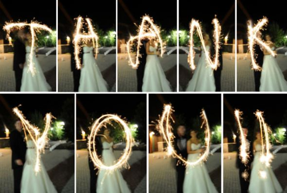 Wedding Sparklers Ideas and Inspiration - Wedding Photography Ideas Thank you card