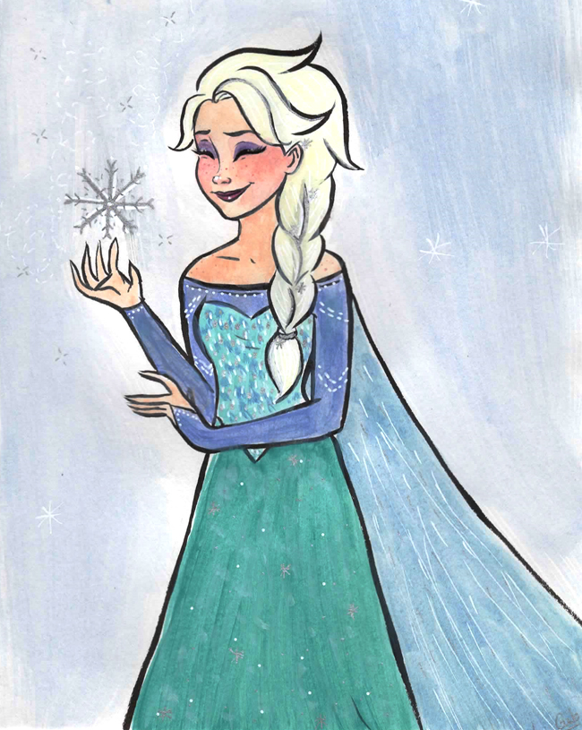 [Dessins] Le p'tit atelier de Gib ! Elsa-encore