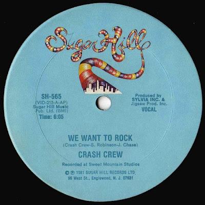 Crash Crew – We Want To Rock (1981, VLS, 256)