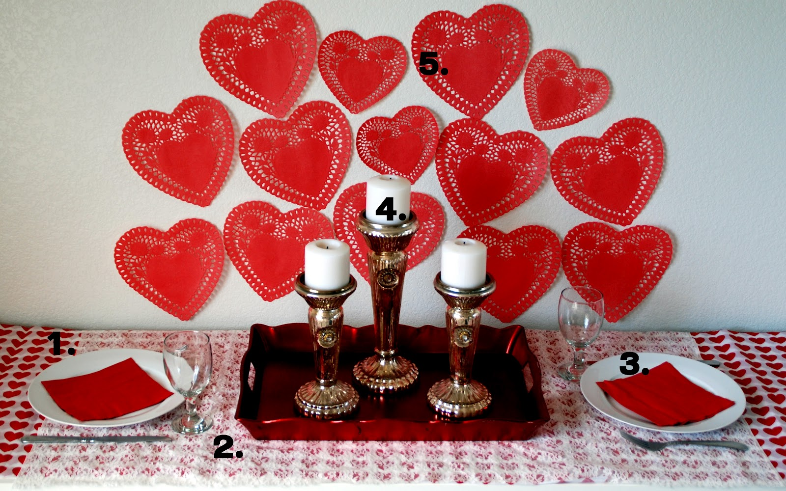 Red Love Dinner With Numbers Romantic Dinner Ideas At Home For Two