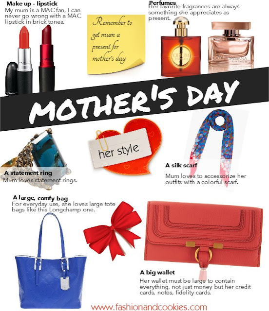 My ideas for Mother's day gifts - Fashion and Cookies