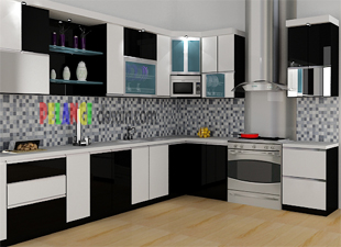 Kitchenset pelangi desain interior kitchen set modern mewah for Kitchen set mewah