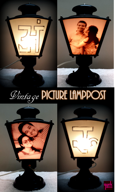 quirkitdesign_vintage picture lampost_decor_DIY_upcycle_quirky_gift