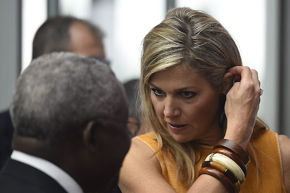 Queen Maxima of the Netherlands attended opening of the Global Forum on (GFRD) Remittances Development 2015