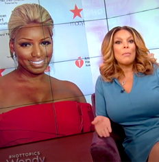 6a713fa665 Earlier this week NeNe Leakes went ballistic after Wendy Williams said NeNe  wasn t rich enough to deface a  3k handbag after NeNe scrawled a bunch of  ...
