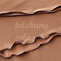Telekung lycra coklat corak curly di tepi