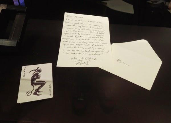 Rachel Dawes letter prop Dark Knight
