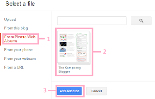 Upload gambar ke blog dari picasa web album
