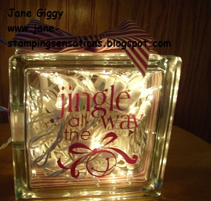 Stamping sensations the 9th week of christmas turorital - Glass block decoration ideas ...