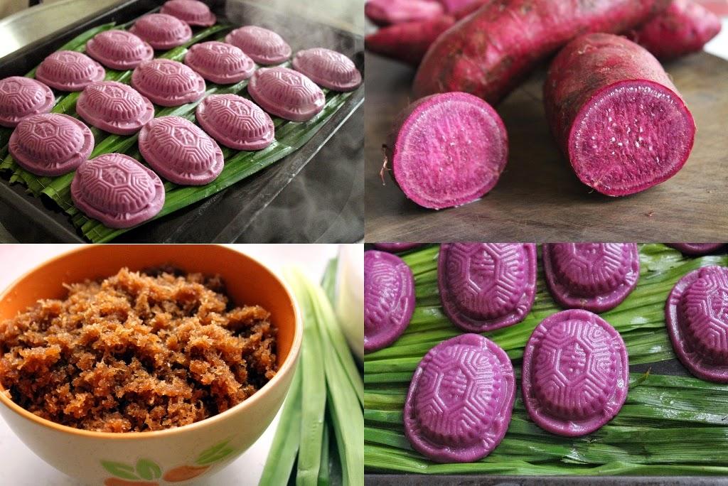紫薯椰丝红龟糕