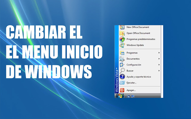 Cambiar el menu inicio a vista clasica windows