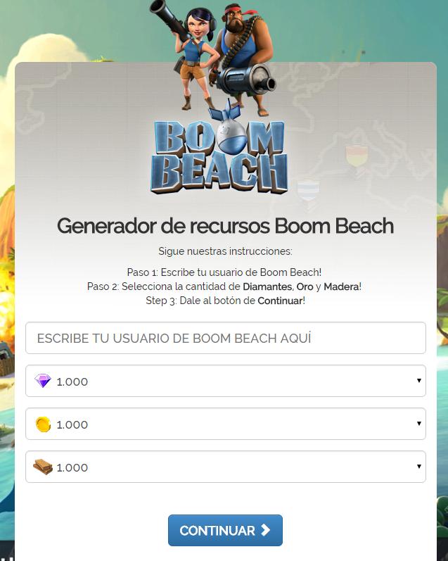 Generador Boom Beach