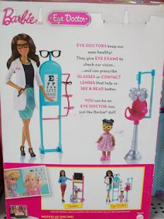 Barbie Eye Doctor Black version, box back