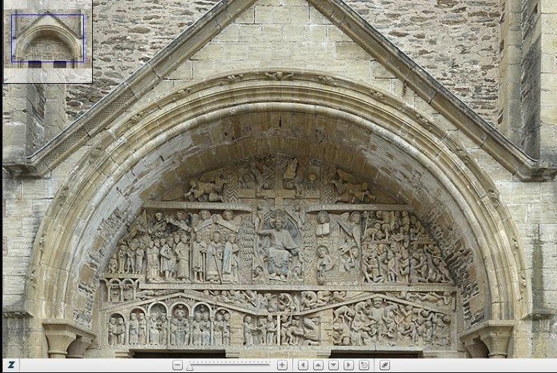 http://faculty.vassar.edu/antallon/zoomify/Conques_Tympanum.html