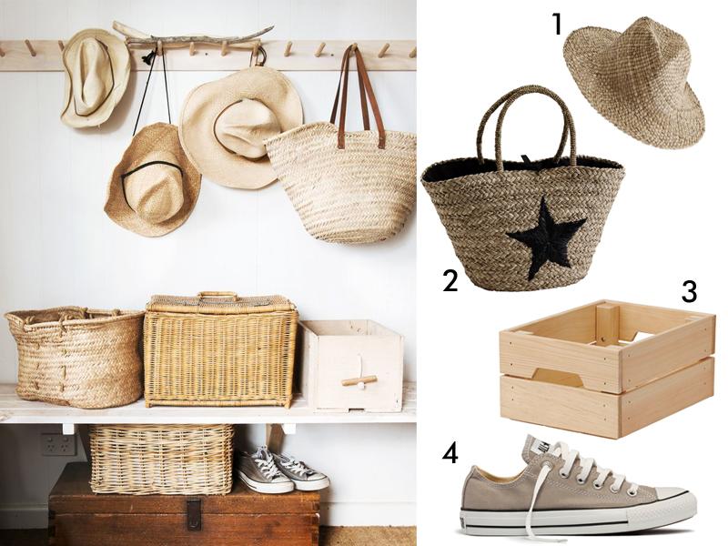 Domek letniskowy, weekend, kapelusz słomkowy, kosz słomkowy, kosz z trawy, converse, IKEA