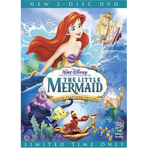 DVD cover The Little Mermaid 1989 movieloversreviews.blogspot.com