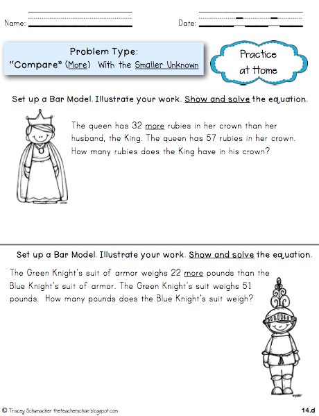 math worksheet : the teacher s chair problem solving and model drawing bar model  : Math Models Worksheets