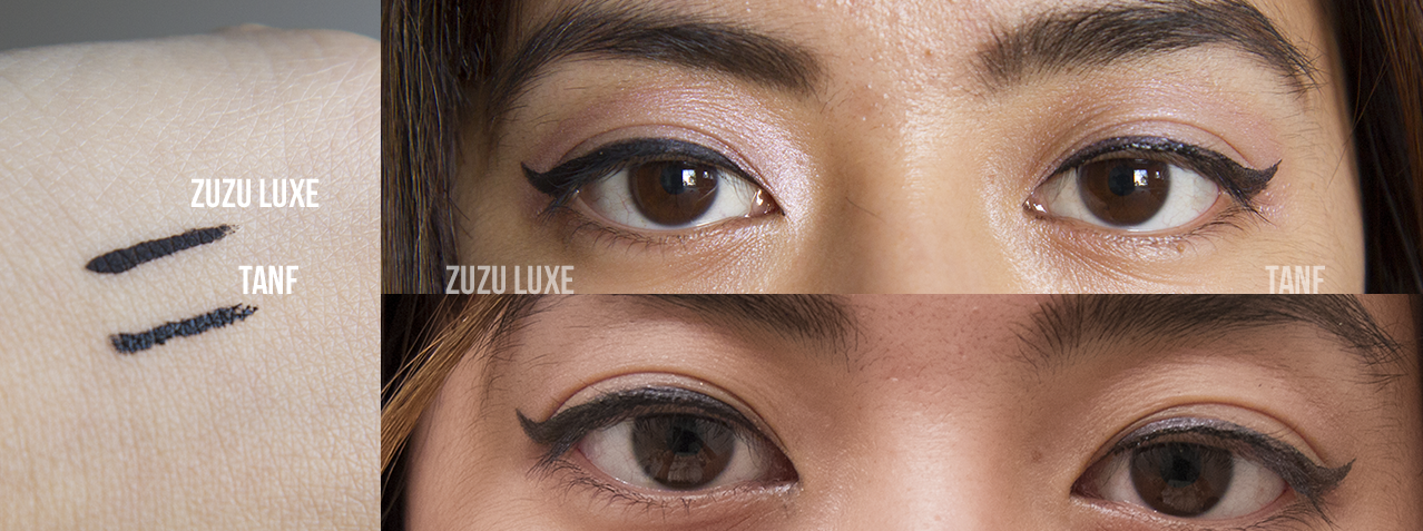 Natural Liquid Eyeliner Review: Zuzu Luxe vs. The All Natural Face ...