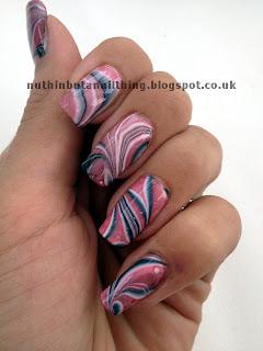water marble nails marbled nail art
