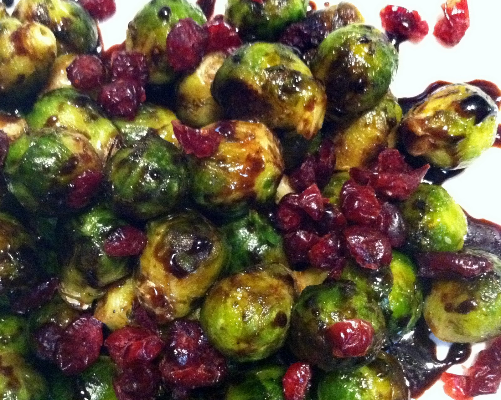 Brussels Sprouts with Balsamic & Cranberries | One Couple's Kitchen