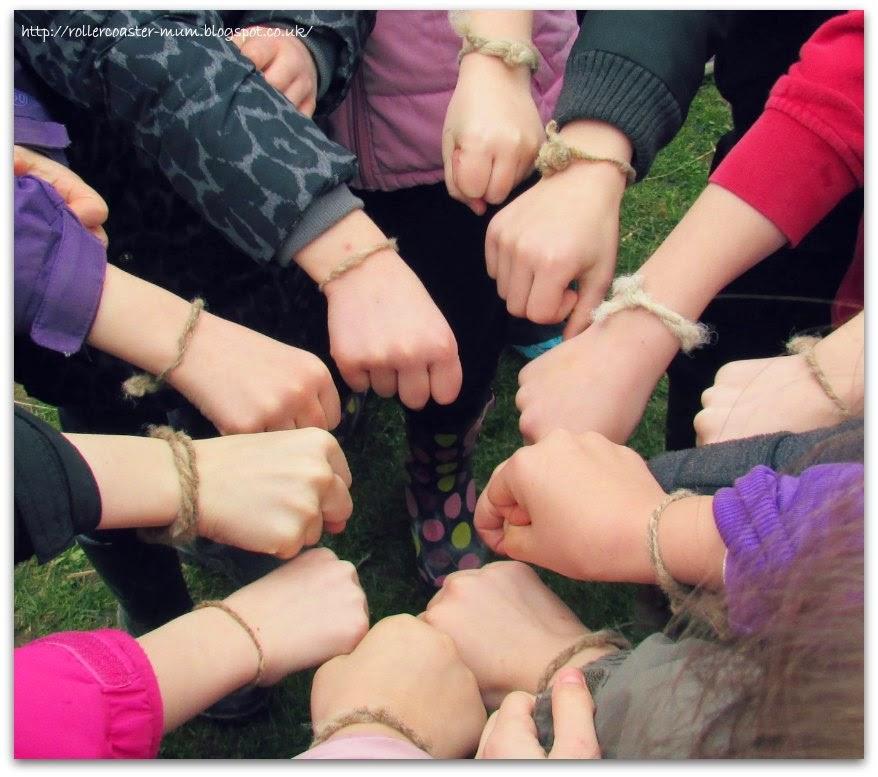 Celtic friendship bracelets, Butser Ancient Farm