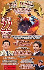 El Zapata y El Chihuahua, mano a mano en Tula, Hidalgo el 22/03.