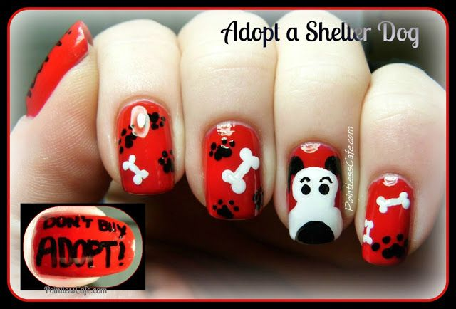 Snoopy-Nail-Art-Cartoon