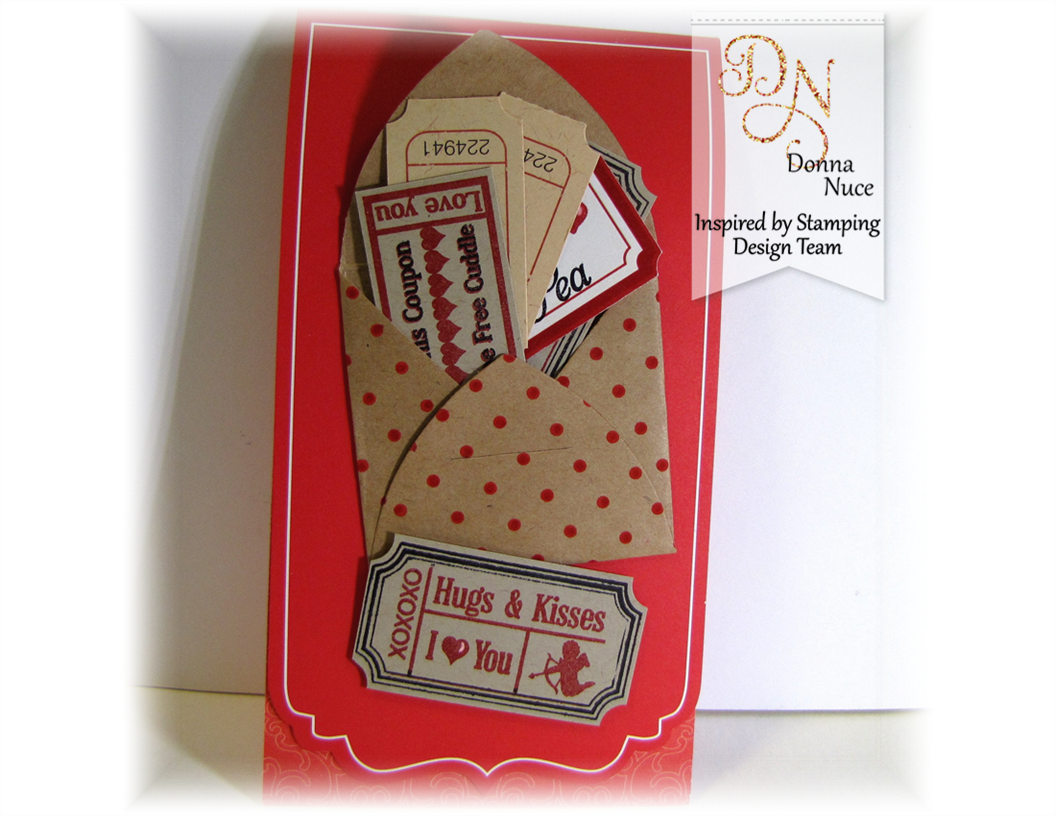 Inspired by Stamping, Crafty Colonel, Vintage Tickets, Valentine's Card