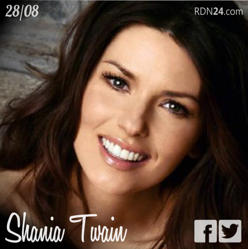 28 de agosto   Shania Twain - @ShaniaTwain   Info + vídeos