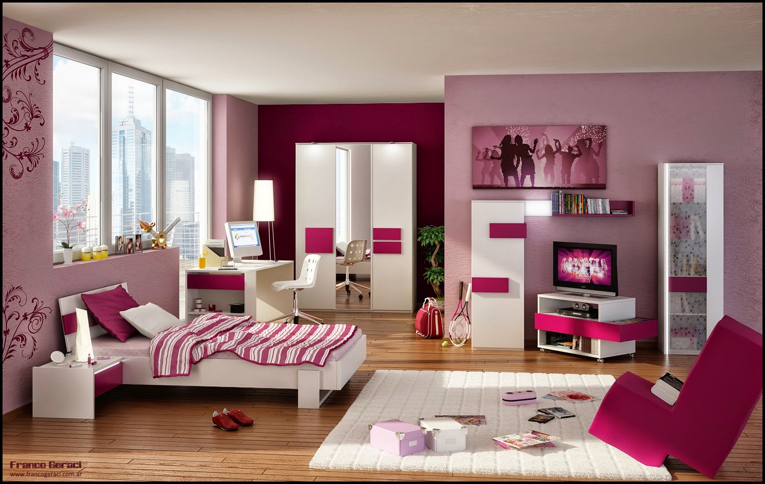 conseil peinture chambre fille id es d co pour maison moderne. Black Bedroom Furniture Sets. Home Design Ideas