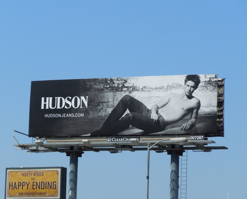 Patrick Schwarzenegger Hudson Jeans billboard