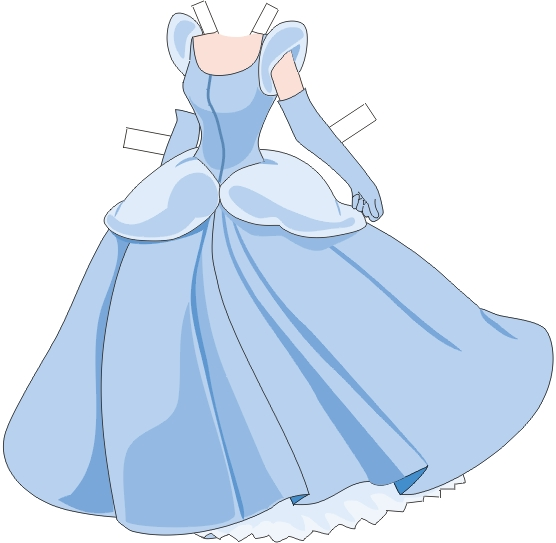 printablecolouringandactivity: Cinderella paper doll and clothes