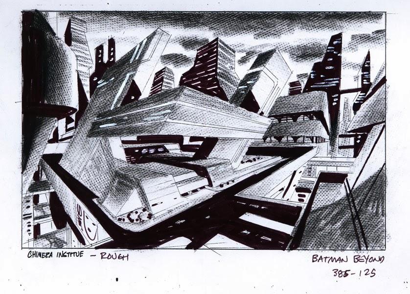 draw background designs batman beyond