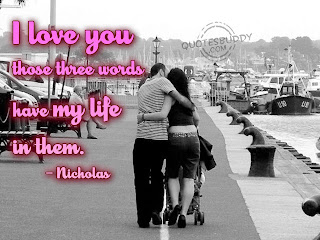 i love you three words Love Quote and Saying