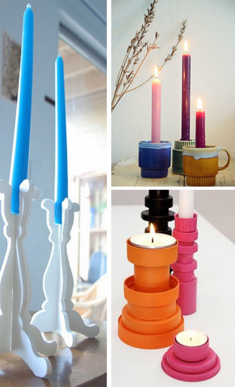 diy monday candle holders ohoh blog. Black Bedroom Furniture Sets. Home Design Ideas