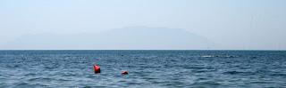 A hazy island out to sea - Thassos?