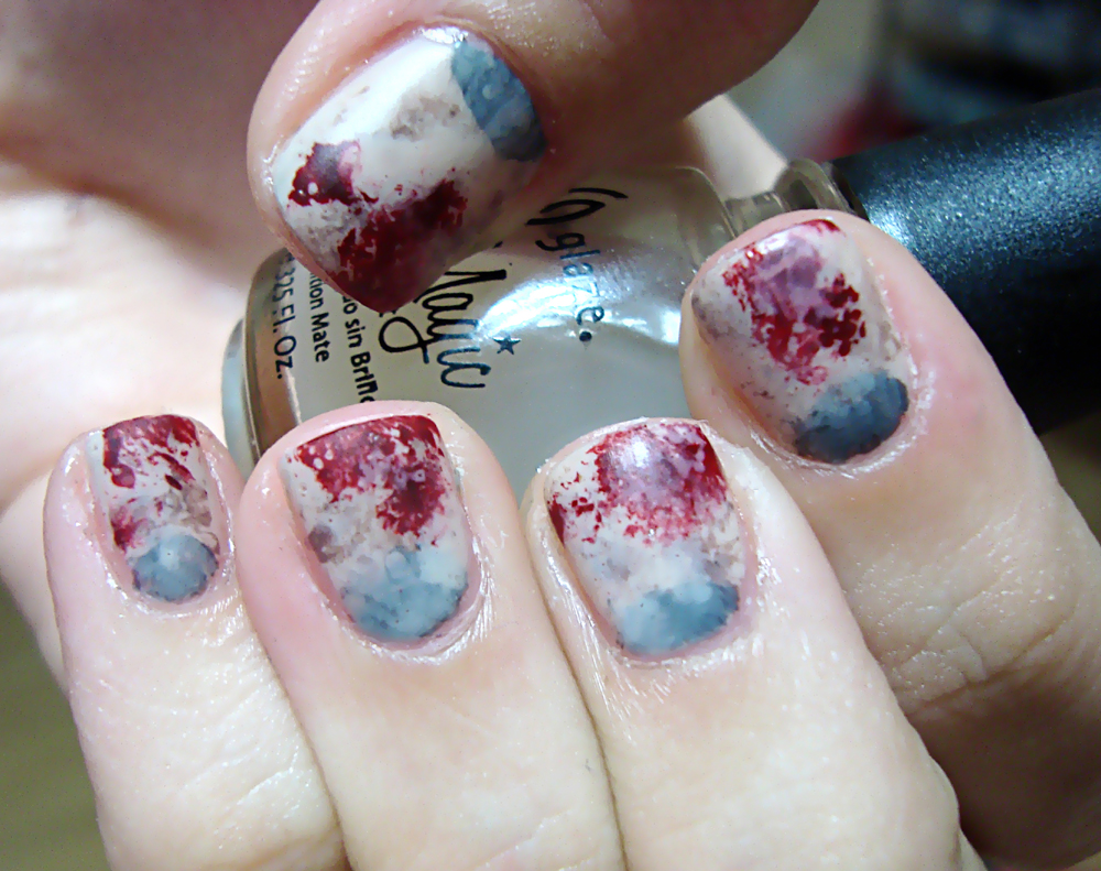 Zombie Nail Manicure! Halloween Nail Art | Polished Love ♥
