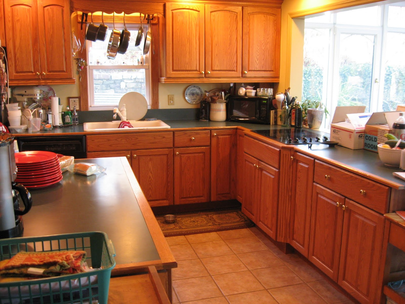 That old house squeezing a vintage look out of a 1980s for 1980 kitchen cabinets