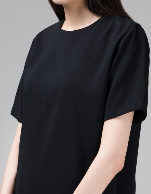 365Basic Short Sleeve Shift Dress