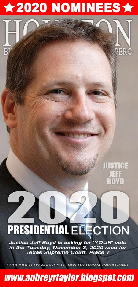 Justice Jeff Boyd for Justice, Texas Supreme Court, Place 7 on Tuesday, November 3, 2020