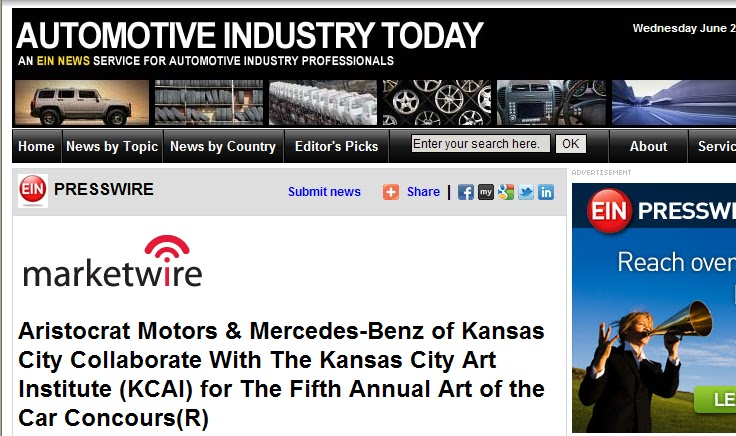 aristocrat motors aristocrat motors announces partnership ForMercedes Benz Of Kansas City Aristocrat