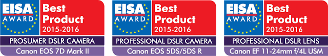 Canon is recognised with three esteemed EISA Awards for EOS and EF-lens products