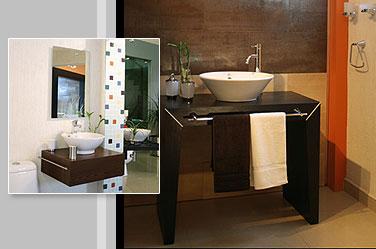Ba os para espacios peque os ba os de estilo minimalista Banos minimalistas pequenos