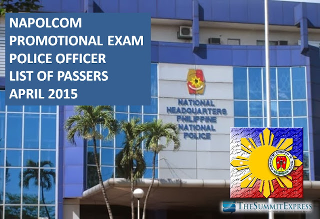 NAPOLCOM Promotional Exam Police Officer