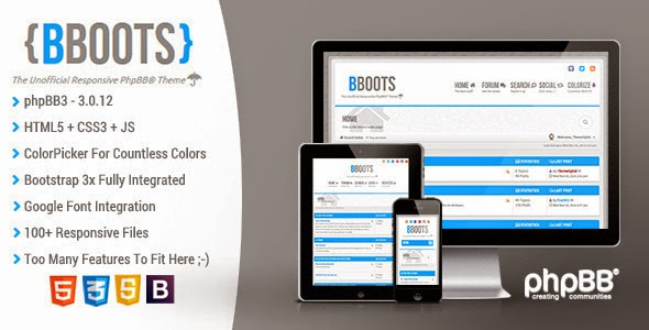 BBOOTS - HTML5/CSS3 Fully Responsive phpBB3 Theme