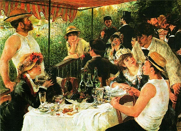 Пьер Огюст Ренуар. Завтрак гребцов. 1880.