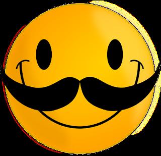 Gambar Kumis Kartun Lucu Smiley Vektor Grafis