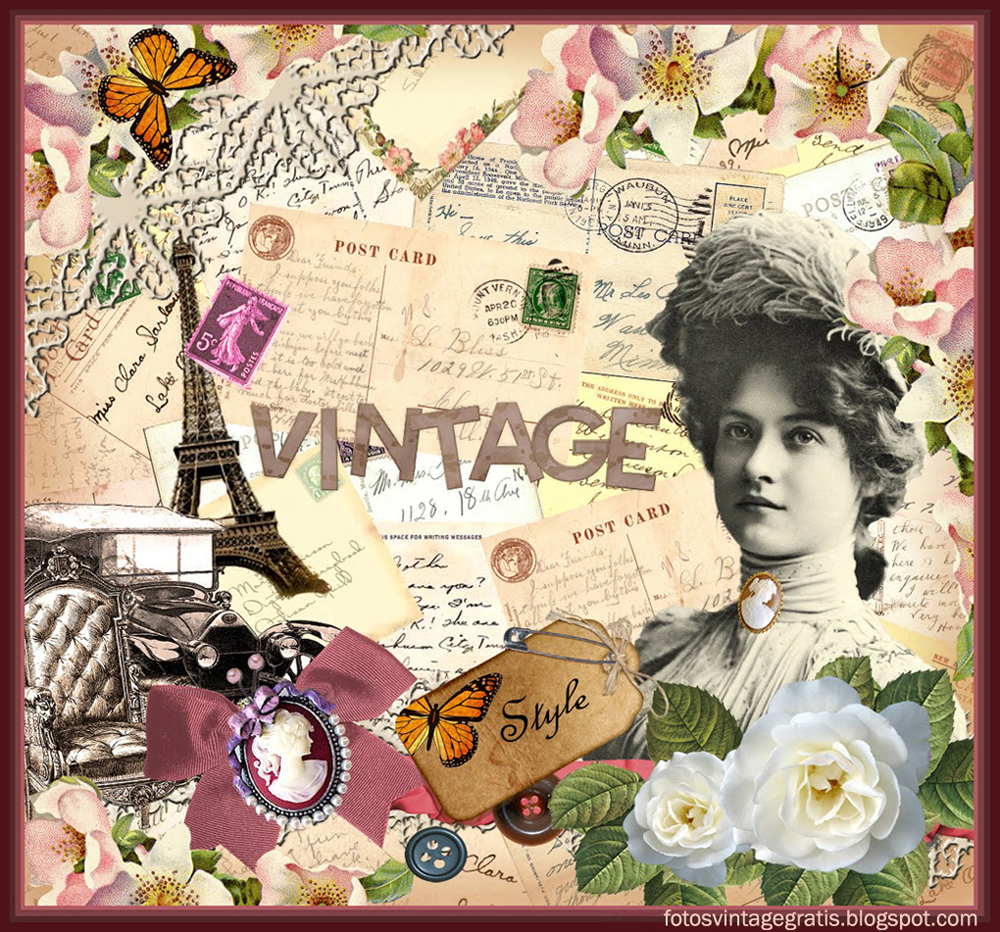 Im genes vintage gratis free vintage images collage for Imagenes retro vintage