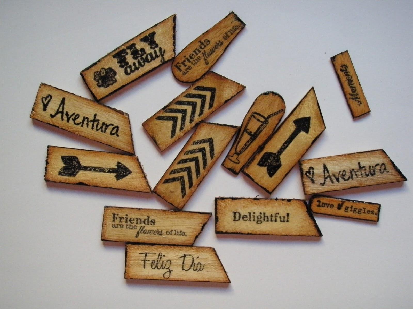 El caracol verde Adornos de madera caseros y muy originales