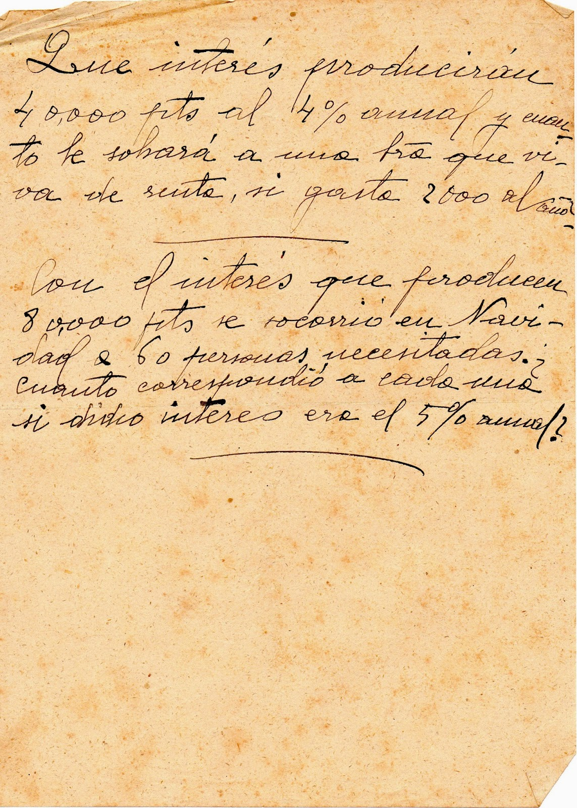 Melitina Álvaro Blázquez - Material escolar - 1933-1940 - Problemas aritméticos